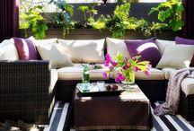 Backyard and deck