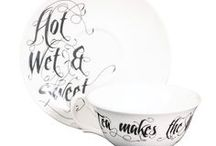 For the love of Teacups / A Teacup & Saucers taken from our ranges: Anatomica, Beautiful Alchemy, Benday, Entomo and Inkhead