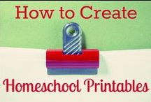 Homeschool Printables / Need printable resources for your homeschool? This is where they are at!