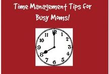 Time Management Tips for Moms / Busy mom? Learn to manage your time with time management tips for moms!
