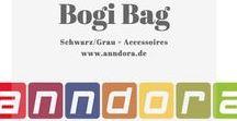 Der James Bond unter den BoGi Bags / Bogi Bag schwarz/grau und die passenden Accessoires.