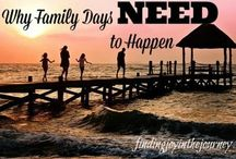 Family Time! / Time together as a family is so important! Here are tips for family time activities, how to make family time happen, and why family time is a necessity.