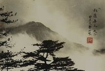 Japanese and Chinese ink paintings