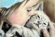 Gatos na arte