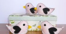 Felt Birds / Handmade felt birds from my Etsy Shop!