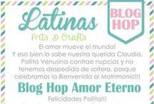 Blog Hop Amor Eterno / Mis amigas y compañeras del equipo de Diseño de Latinas Arts and Crafts nos han regalado un hermoso Blog Hop para celebrar nuestra bienvenida como recién casados.