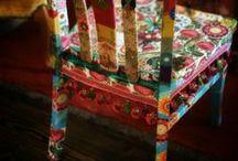 Decoupaged furniture / by Robin Knoblock