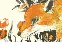 Fox Illustrations / Beautiful fox artwork that makes my eyes happy!
