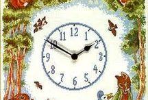 Cross stitch - clocks
