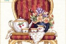 Cross stitch-Tea Time