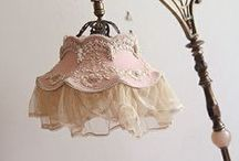 Shabby Chic Lace Lamps