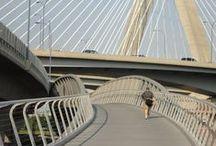 North Bank Bridge, Boston / Composite Advantage pedestrian bridge deck with FiberSPAN in Boston, MA.