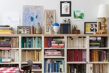 { Bookshelves } / Storage solutions for small homes.