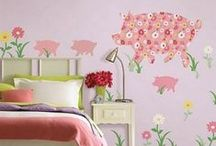 Girls Room Wall Decor / Wall decor and wall stickers for little girls rooms.