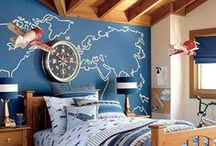 Boys Rooms Wall Decor / Wall decor and wall stickers for little boys rooms.