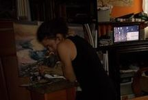 Me at work / Że niby jestę malarzę czy kimś tam z wysokiej półki. Prawie celebrytą.