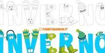 Inverno / Materiale didattico, ricreativo e gratuito sull'inverno per bambini di tutte le età da stampare o consultare online