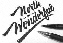 ▲ Hand-written typography