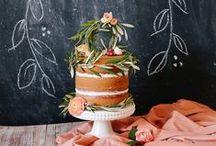 Cake cake cake and flowers