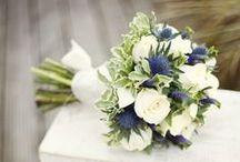 Blue sea side wedding / Wedding Flowers