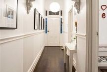 Inspiration for hallways / The entrance to your home makes a significant first impression. Where stairs, meet floor, meet walls, meet beautiful flowing lines often created from timber mouldings.