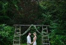 Garden Weddings / barefoot bride and groom, DIY props, natural setting, beautiful garden weddings