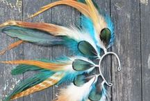 Feathers / Bijoux ... Tribal, boho, contemporary, fashion, DIY, headpieces ...
