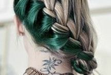Hair ! / Long hair, crazy hair, hair color, hair styles ... braids, up do, bun dreadlocks ...