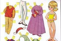 Imprimibles / Cartas para escribir, muñecas recortables, sobres, montables, cubeecraft y papercraft, cajas, miniaturas...