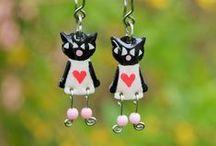 Cat Earrings / Cat Earrings