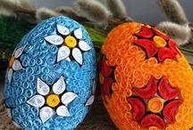 Jajka Wielkanocne / Jajka wykonane metoda karczoch-ową i quillingu