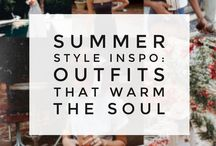 Summer/Spring Style / Style inspiration for Spring and Summer months. Get all your outfit ideas here! Fashion, outfit, sun, beach, style.