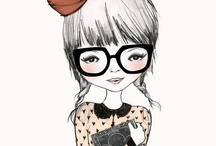 Illustrated Ladies / Quirky, creative illustrated female characters in a variety of inspiring styles.