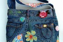 créations en tissu jean