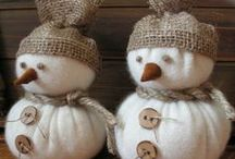 snowmen poupées