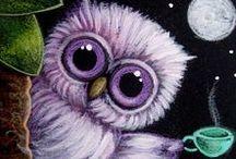 совы / owl / лепка, совы