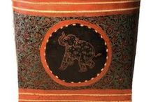 Antique Lacquerware from Burma / Collection of various styles of lacquer ware vessels with intricate decoration. Even a simple lacquer vessel can take 6 months to create. Available from sabai designs gallery.