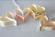 Washi tape and Valentine's Ideas / Using Washi tape for valentine cards and gifts