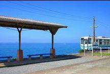 "In front of eye is Seto Inland Sea – heartwarming ""Shimonada Station"""