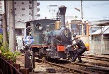 "Retrospective atmosphere! Go to ""Dogo Onsen"" by ""Botchan train"""