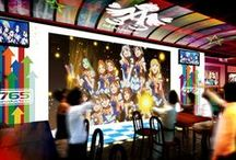 In IDOL M@STER Cafe, you can enjoy live while having meal!