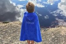 Omasi Beach hooded towels / Practical towel for babies and young childen. Convenient and easy to use after the bath time or day out by the water.
