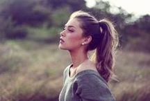 Styling: Ponytails / Hairstyles that have high, low, and to the side ponytails.