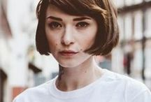 Haircut: Bob (Women) / A haircut that is cut straight across the head usually around the jawline.