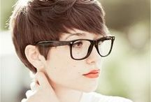 Haircut: Pixie (Women) / A short haircut that is short in the back and sides but longer on the top.