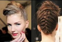 Styling: Pompadour / Hairstyles that have playful volume on top and hair pulled sleekly back on the sides.