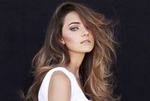 Color: Cafe Au Lait / Hair color that are more on the brunette side with caramel blonde highlights, ombré, or balayage. The colors resemble when someone adds cream to cup of coffee.