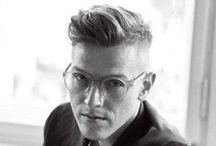 Haircut: Modern Pompadour (Men) / Haircut where the length of hair is longer on the top and sides are cut shorter.