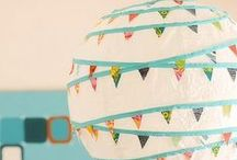 Paper lanterns, guirlandes