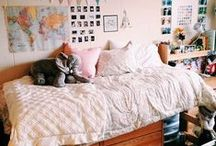 DORM IDEAS / Decorations and organization tips